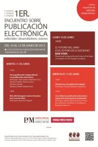 Cartel Publicación electrónica